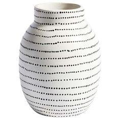 Black Vase, White Vases, Ceramic Painting, Ceramic Vase, Pottery Painting Designs, Painted Vases, Hand Painted, Painted Pottery, Pottery Vase