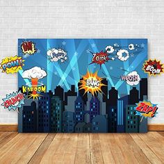 Superhero Cityscape Photography Backdrop and Studio Props DIY Kit. Great as Super Hero