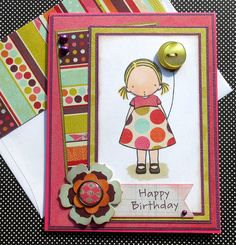 Pure Innocence Birthday Card with Matching by SewColorfulDesigns, $6.50