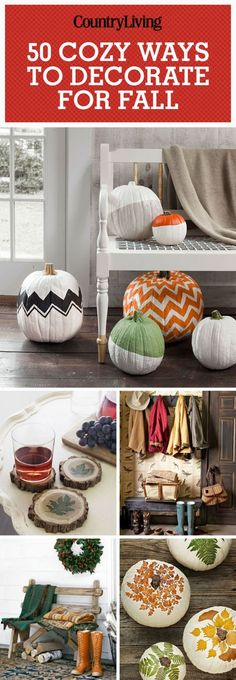 Pin these cozy ways to decorate for fall from pumpkin painting ideas to decor that adds warmth to a room.