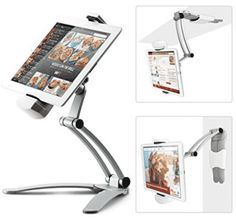 Kitchen Tablet Mount Stand iKross Kitchen Wall / CounterTop Desktop Mount recipe Holder Stand For 7 to 13 Inch Tablet fits 2017 iPad Pro / / Air / Mini, Surface Pro, Nintendo Switch - Computer and Accessories Lists Products Ipad Holder For Bed, Tablet Holder, Tablet Stand, Ipad Stand, Phone Holder, Microsoft Surface, Surface Pro, Microsoft Pro, Shopping