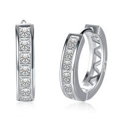 Lureme 925 Sterling Silver Earrings Round with AAA+ Zircon Stud Earring for Women Girl Simple Jewelry Brincos Joyas De Plata 925 #Affiliate