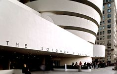 The Iconic Guggenheim museum by Frank Lloyd Wright.