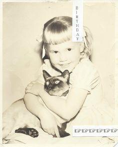 My fourth birthday, holding Chi Chi.