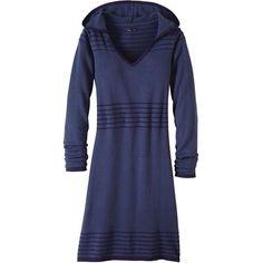 Prana Women's Mariette Dress (6.445 RUB) ❤ liked on Polyvore featuring dresses, grey indigo, v neck grey dress, sweater dresses, prana, long sleeve dress and long-sleeve sweater dresses