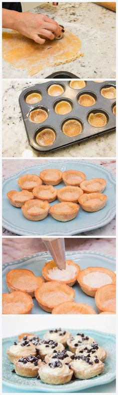 Mini Cannoli Cream Cups Calls for a full container Whole Milk Ricotta Then calls for a store bought pie crust for the cannoli cups. I suggest making a homemade Rich cream cheese pie crust