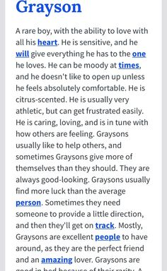 This is what the name Grayson means