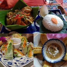 And now the yummy menu from We start with Fresh spring rolls For the main dish we have amok Fish with rice in Banana… Fresh Spring Rolls, Fresh Rolls, Luigi, Main Dishes, Menu, Rice, Banana, Ethnic Recipes, Instagram