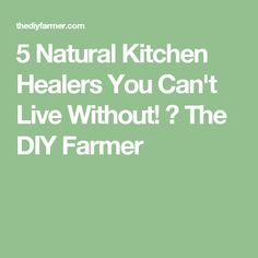 5 Natural Kitchen Healers You Can't Live Without! ⋆ The DIY Farmer