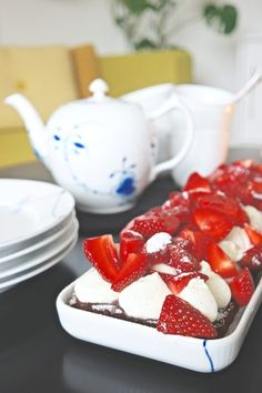 Danish Cake, Cookie Desserts, Caprese Salad, Panna Cotta, Muffins, Food And Drink, Appetizers, Cookies, Ethnic Recipes