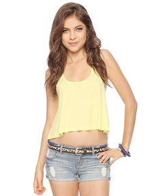 pale yellow relaxed tank top from forever 21