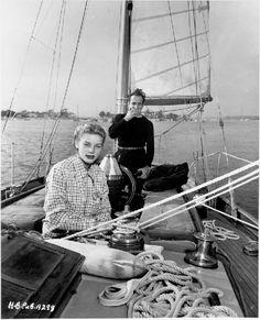 Lauren Bacall & Humphrey Bogart aboard The Santana.