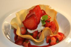 Strawberries with Mascarpone, wild Mint and Bronte Pistachio Croccante