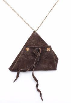 Long Necklaces – Leather pendant BN – a unique product by AB-art-studio on DaWanda