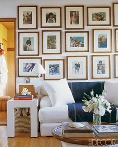 Elle Decor family gallery wall