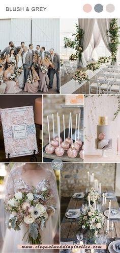 classic blush and grey wedding colors for spring and summer Elegant Wedding Colors, Grey Wedding Decor, Blush Wedding Colors, Spring Wedding Colors, Blush Pink Weddings, Summer Wedding Themes, Wedding Ideas, Rustic Wedding, Wedding Stuff