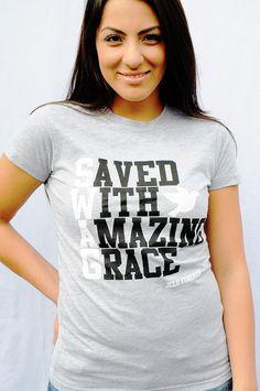WOMEN-SHIRT-SWAG-HEATHER GRAY-Christian T-Shirt by JCLU Forever Christian t-shirts