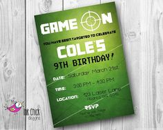 Laser Tag Invitation Digital Printable DIY Laser Tag Birthday