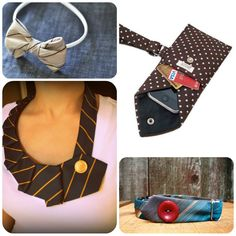 Every time I go to the thrift store I see so many great patterned ties. My Dad also has some old ties that are not getting any use and thanks to the ideas below, I may be raiding his closet.  Need some upcycled tie inspiration?  Check out a few of my favorites below.DIY Old Tie via Brown BobbinRecycled Necktie Wristlet via TearfulTouch Upcycled Tie Necklace Tutorial via Crazy WonderfulVintage Tie Dog Collar via thwap