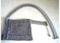 CHANEL 03 MAJOR RUNWAY HANDMADE WOVEN SILVER METAL MESH JEWELED POUCH BAG BELT. VINTAGE-FRANCE-DE-COUTURE by sincere_international