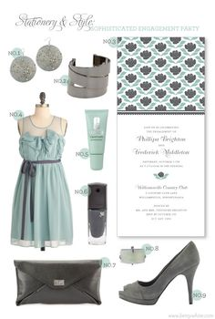 Stationery & Style: Sophisticated Engagement Party Outfit #engagementparty #partyinvitations