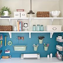 Turn a small 12x12 bedroom into craft/office room and use the double closet as workspace / storage in our… :: Hometalk