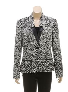 Lafayette-148-Black-and-White-Leather-Trim-Knit-Blazer