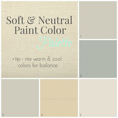 Natural Paint Colors the calming palette is a relaxing, neutral set of harmonizing