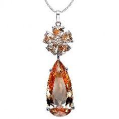 November Birthstone Swarovski Crystal Flower And Angel Teardrop Necklaces SOUFEEL Jewelry - Fit PANDORA/TROLLBEADS/CHAMILIA. #Jewelry #Fashion #Silver #handcraft #DIY  #Accessory #customjewelry lovebeadsworld.com