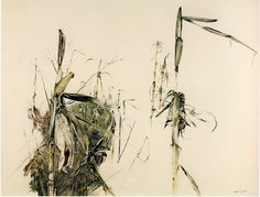 Andrew Wyeth, Winter Corn , There was a lovely cornfield near Lafayette's headquarters in Chadds Ford where I loved to go and sit al. Andrew Wyeth Art, Jamie Wyeth, Watercolor Kit, Watercolor Landscape, Nc Wyeth, Forest Illustration, Brown Art, Artist Painting, American Art