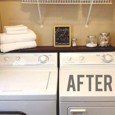 I want a shelf like this over my washer and dryer. To keep stuff from falling behind them.