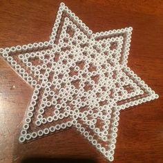 Christmas star ornament hama beads by iannel82