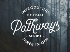 Now Available For Sale On Creative Market! http://crtv.mk/j0hll  Or View Full Project On Behance: https://www.behance.net/gallery/35728059/Pathways-A-Script-Typeface