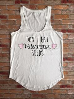 Preggers Shirt, Prego, Pregnancy Shirt, Don't Eat Watermelon Seeds, Maternity Shirt, Funny Pregnant Tank Top, Baby Shower Gift, New Mom Tee by KyCaliDesign on Etsy https://www.etsy.com/listing/272080428/preggers-shirt-prego-pregnancy-shirt