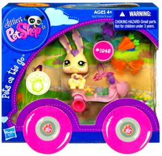Littlest Pet Shop LPS Bunny Rabbit and Scooter Vehicle Toy Set #1845 Pets on the Go New @ http://www.bonanza.com/booths/TweetToyShop