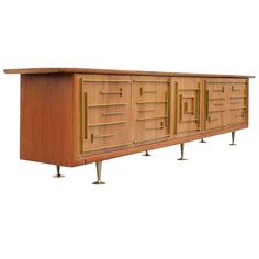Monumental Custom Credenza by Eugenio Escudero Mexico City,1950's. | From a unique collection of antique and modern credenzas at https://www.1stdibs.com/furniture/storage-case-pieces/credenzas/