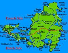 St. Maarten/St.Martin map