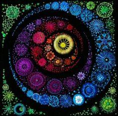 "::Doris Zemp Murer:: The usual effect of a black background making applied colors ""pop""."