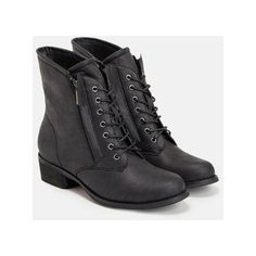 Justfab Booties Aaminah ($40) ❤ liked on Polyvore featuring shoes, boots, ankle booties, black, lace up boots, faux leather lace up boots, black lace up boots, lace up platform boots and platform boots
