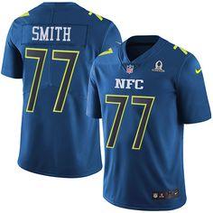 Nike Dallas Cowboys Men's #77 Tyron Smith Limited Blue 2017 Pro Bowl NFL Jersey