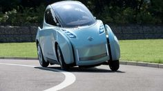 Nissan to show half-width 'Land Glider' tilting electric vehicle at the