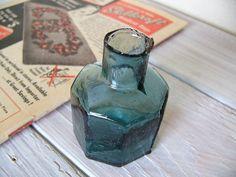 アンティーク インク ボトル (INK BOTTLE ラムネ瓶色)