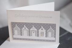 Einladungskarten - Einladungskarte zur Kommunion & Konfirmation - ein Designerstück von Papier-und-Passion bei DaWanda Nautical Cards, Nautical Theme, Beach Huts, Surfboard, Clarity, Stampin Up, Neutral, Crafting, Scrapbooking