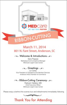 Ribbon cutting invitation design template grand opening ribbon cutting event program click to view the full file including a guided stopboris Gallery
