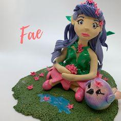 Fae – fairy and bird handmade polymer clay figurines Leafy Originals