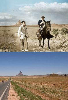 Agatha Peak-Monument Valley-Then and now. John Ford and John Wayne