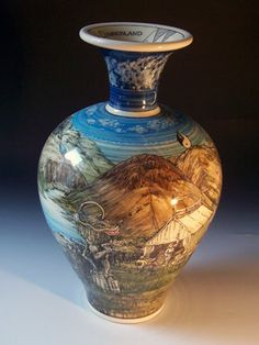 Ceramics by Alvin F. Irving at Studiopottery.co.uk - Western Cumberland Vase h-44cm, 2008.