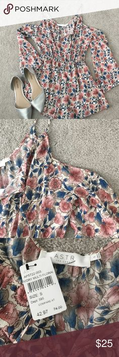 NWT Floral Romper From Nordstroms Rack. Floral Romper. NEVER WORN WITH TAGS. Off the shoulder. OFFERS WELCOME. Nordstrom Pants Jumpsuits & Rompers