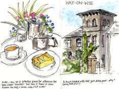 Day04_04 Hay on Wye Afternoon Tea - http://www.lizsteel.com