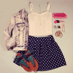 Let's polka #ootd #springfashion